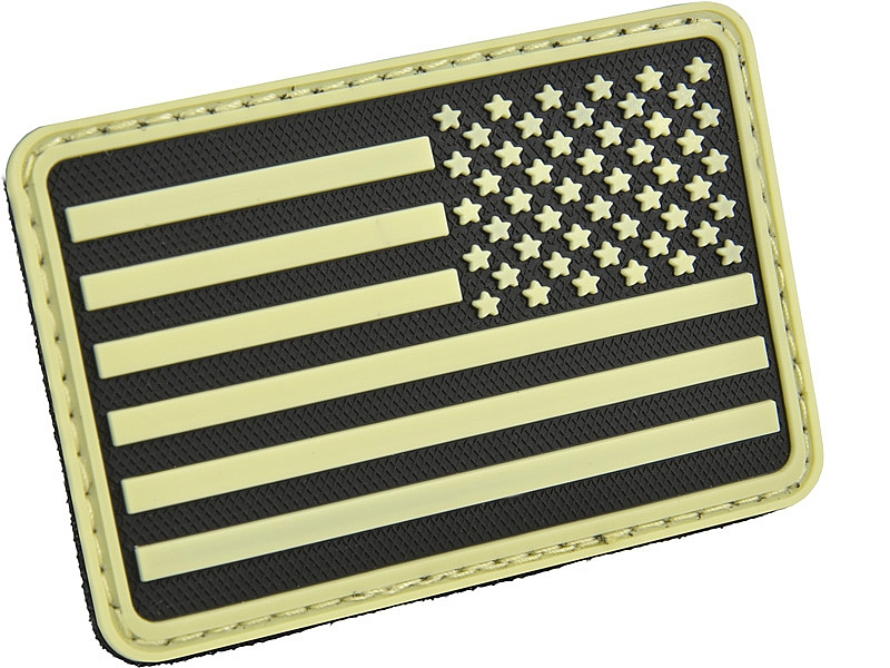 USA Flag (Left Arm) 3D Polymer/Velcro Morale Patch
