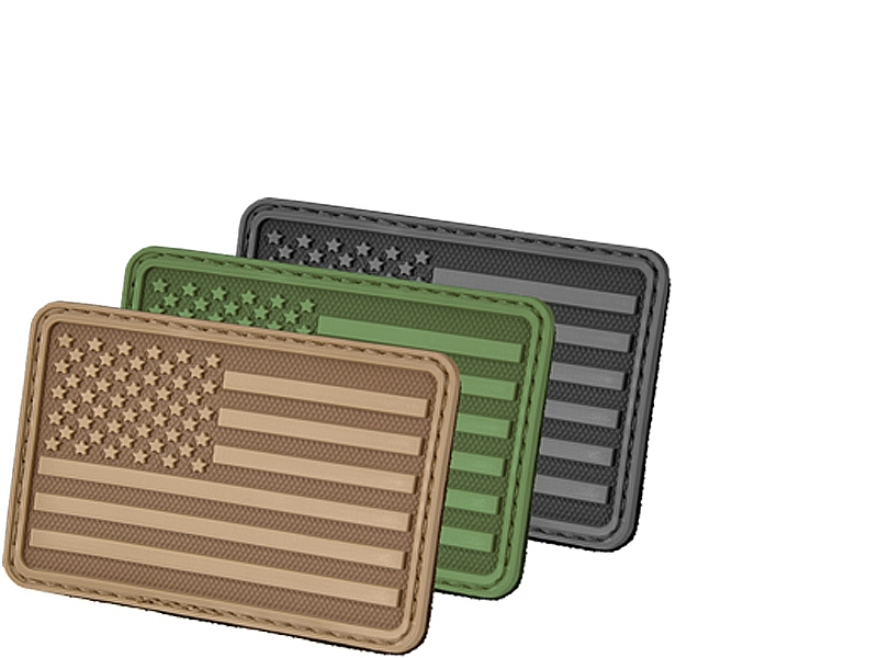 USA Flag (Right Arm) 3D Polymer/Velcro Morale Patch